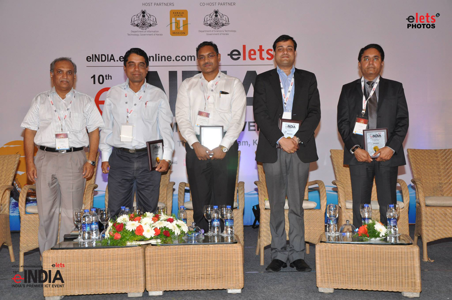 Shri Madhusudan Padhi, IAS, Commissioner cum Secretary alongwith other officials at the e-India Award Function.